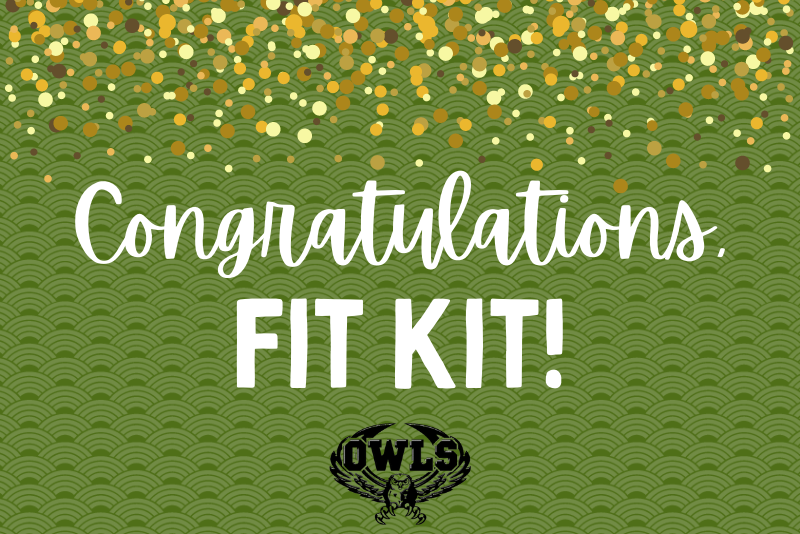 Congratulations Fit Kit Graphic