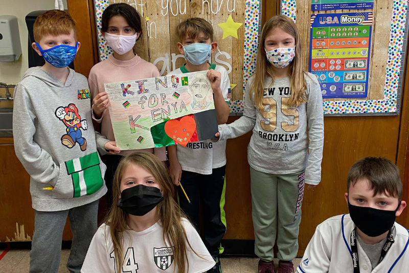 Marion Street Students Show Kindness for Kenya