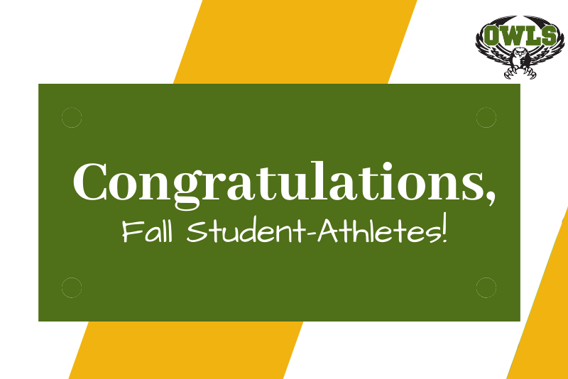 Congratulations Fall Student Athletes