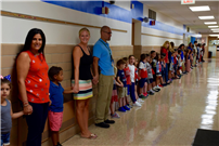 Students and Staff Stand As One For Patriot Day Photo 2